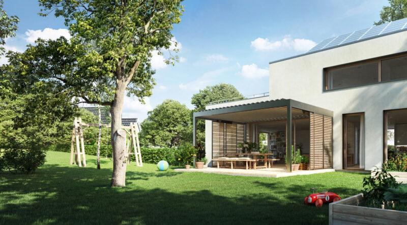Modernes Lamellendach für den perfekten Sonnenschutz in Ihrem Garten.