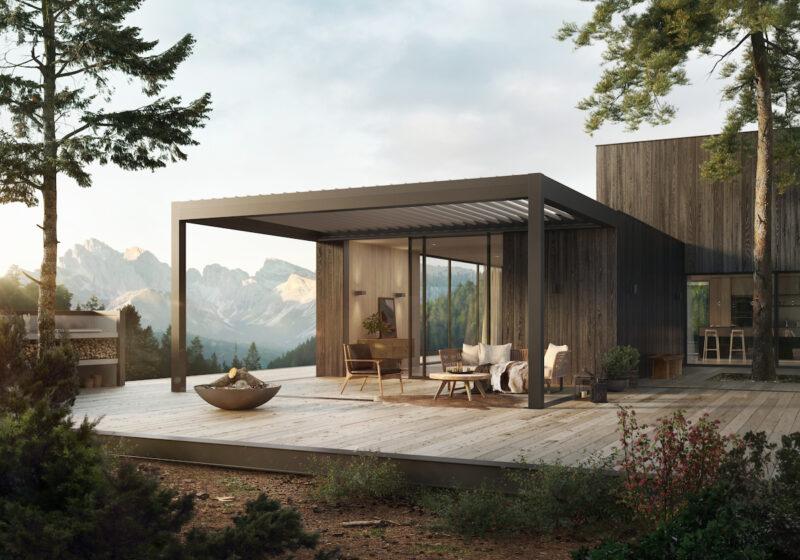 Hochmodernes Lamellendach zum Schutz Ihrer Terrasse.