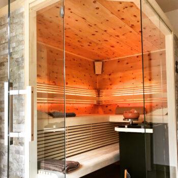 Moderne Sauna für entspannte Wohlfühlmomente.