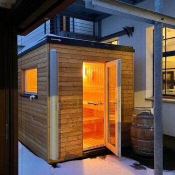 Moderne Sauna für zu Hause. Nach Maß angefertigt.