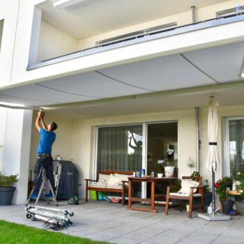 Die Pergolamarkise als moderne Terrassenüberdachung.