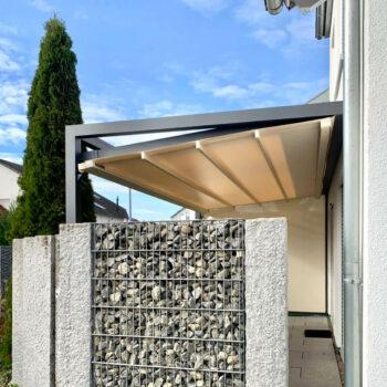 Moderne Pergolamarkise als Schutz bei Sonne, Wind und Regen.