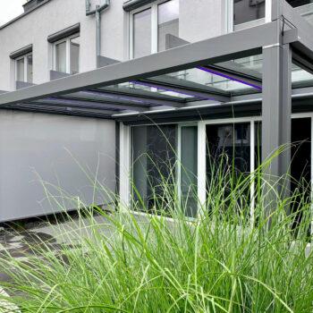Terrassendach in modernem Design.