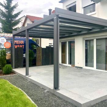 Hochwertige Terrassenüberdachung zum optimalen Schutz.