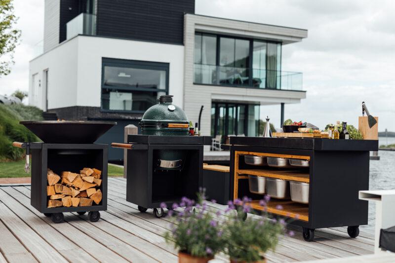 OFYR Außenküche für den Garten mit BigGreenEgg Kugelgrill für Liebhaber.
