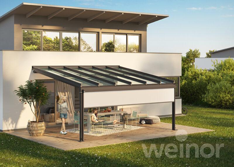 Hochwertiger Sommergarten für eine optimal geschützte Terrasse.