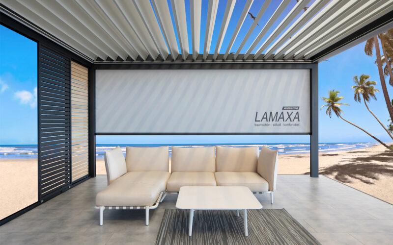 Urlaubsfeeling mit unserem Lamellendach der Marke Warema.